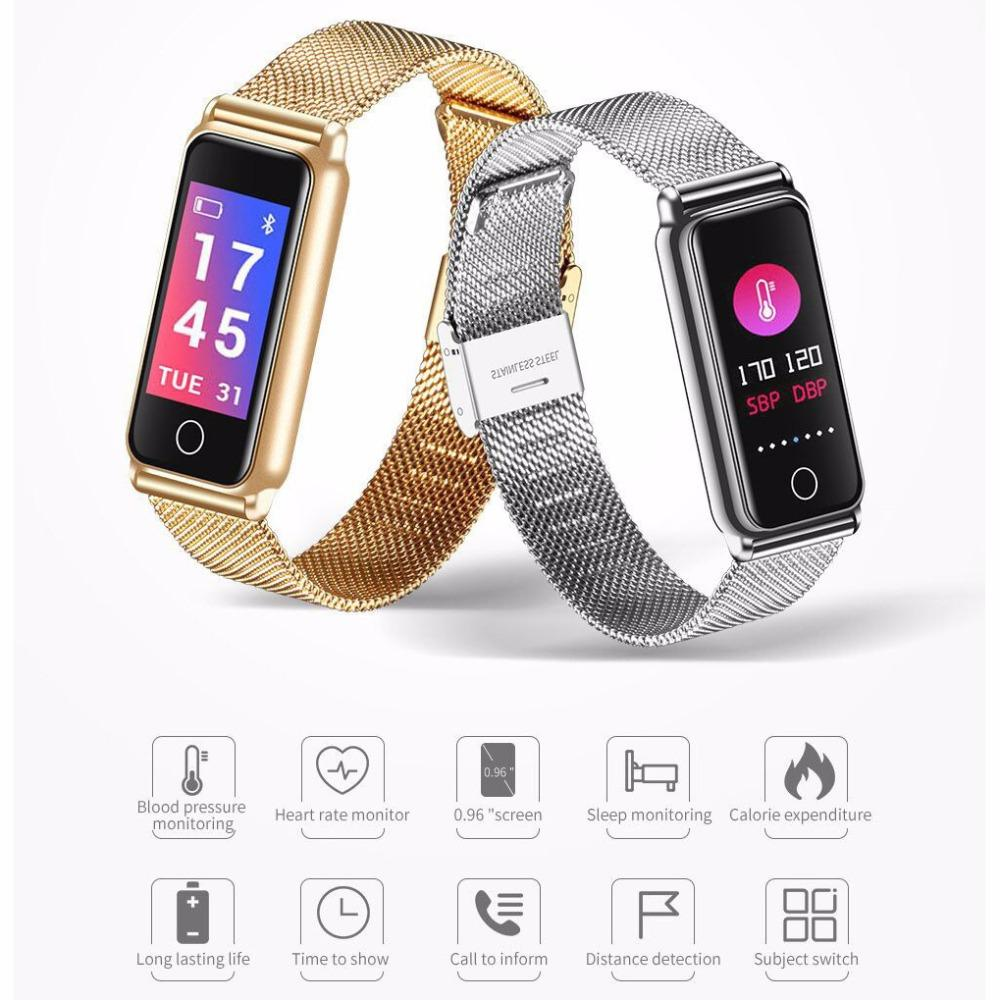 2018 Smart Bracelet Y8 0 96 Inch Tft Ips Color Watch Band Support
