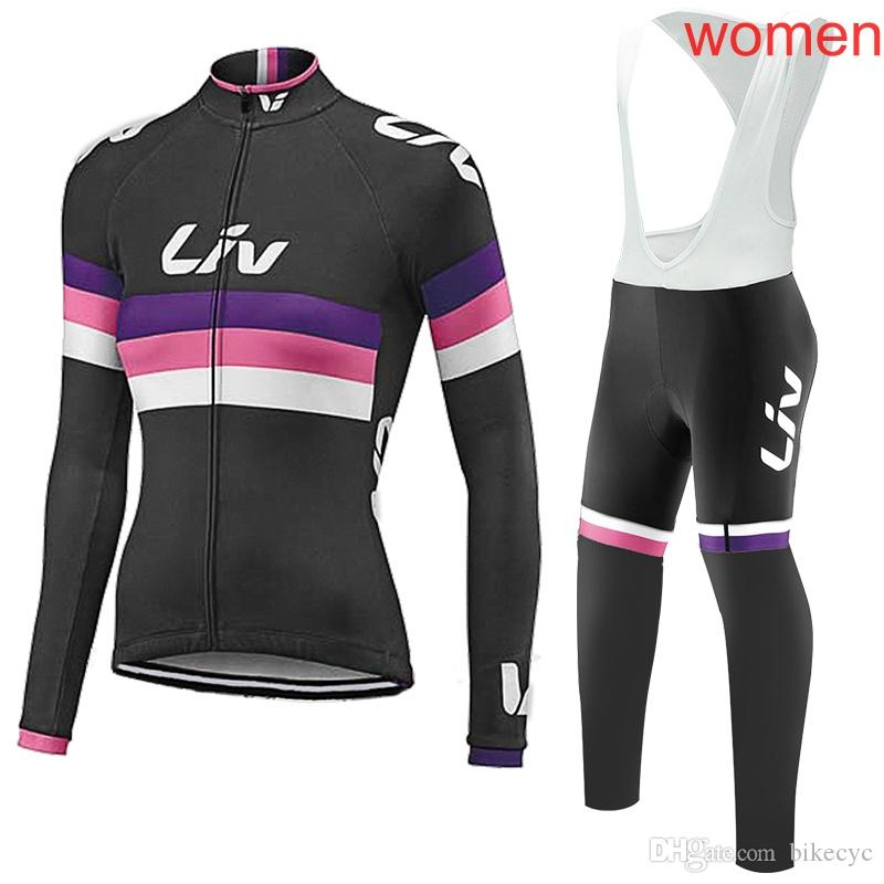 LIV Team Cycling Long Sleeves JerseyBibPants Sets Women Mountain Bike  Spandex Racing Clothes Bicycle Ropa Ciclismo C2031 Cycle Cycling From  Bikecyc 2c2a44d90
