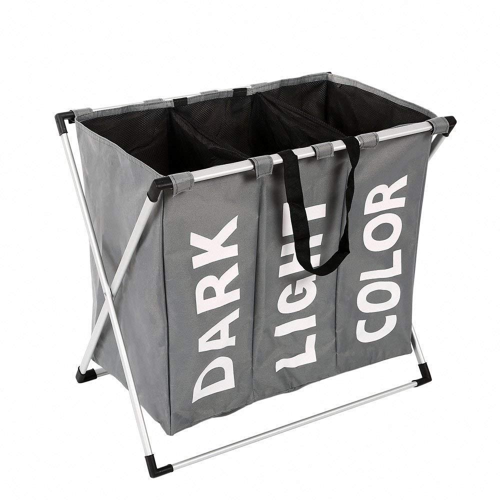 . clothes laundry Storage basket Three grid Organizer basket bathroom laundry  hamper home office storage basket