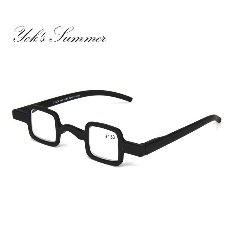 e5e14dbbf5 2019 Yok S Small Square Mini Reading Glasses Vintage Punk Black Plastic  Little Frame Readers Eyeglasses Diopters +1.50 +2.00 +2.50 UL1089 From  Yoks