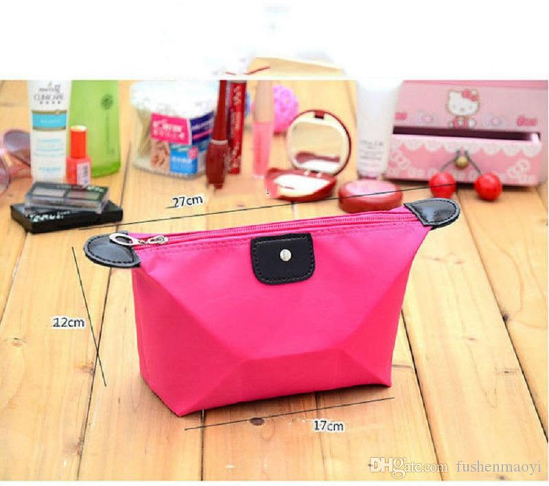 10 Candy Colors Cheapest Folding Storage Bag Waterproof Wash Bag Fashion Cosmetic Bags Large Capacity