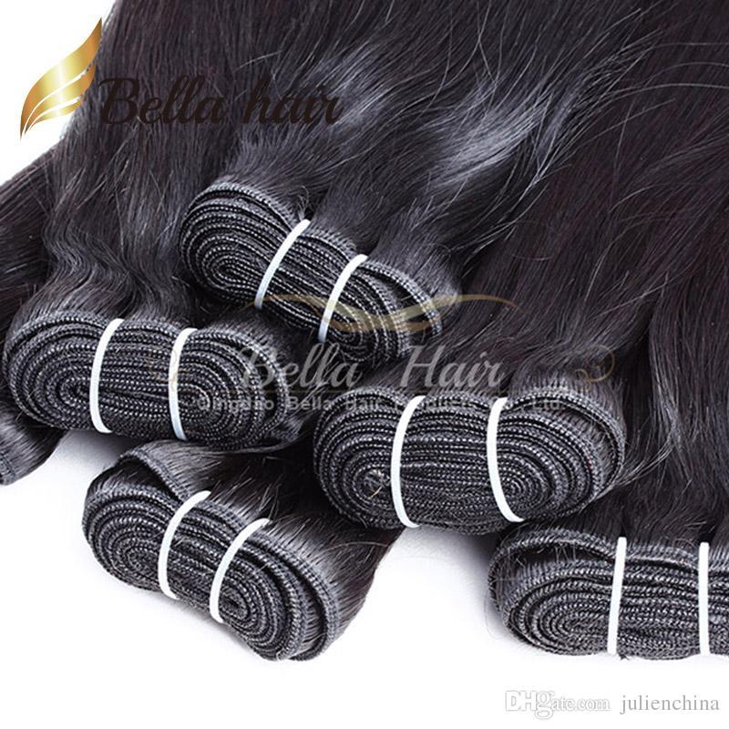 Bella Hair®2 bündelt, um natürliche Farbe zu verkaufen 9A Brasilianische menschliche Haarverlängerung 10