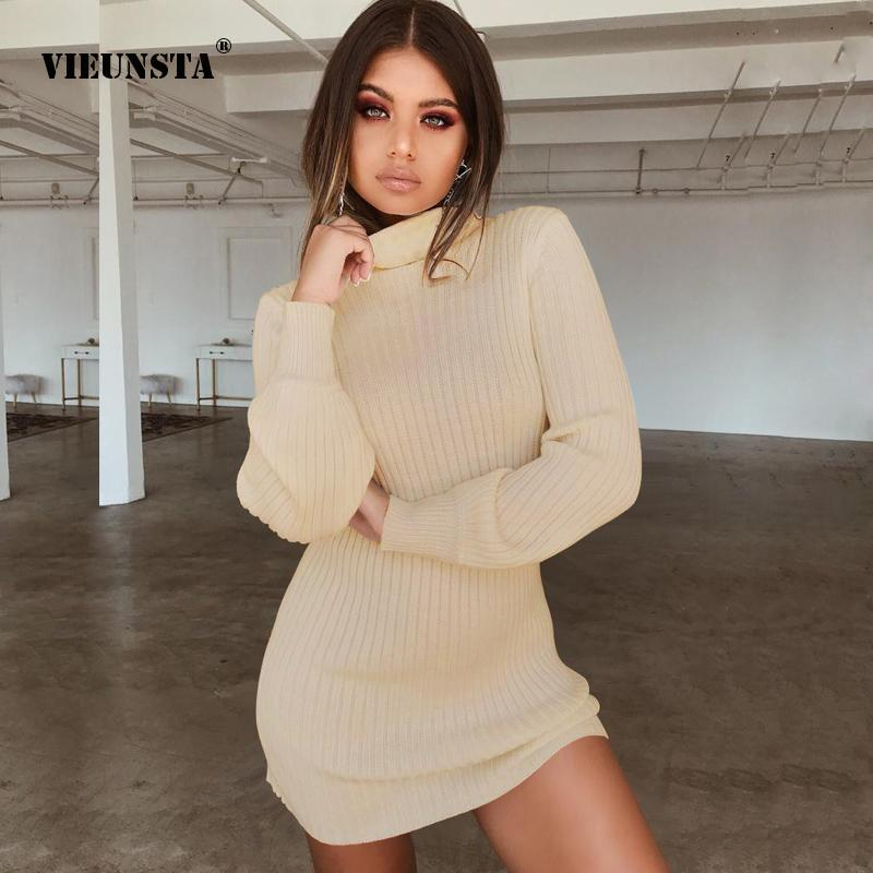 Ribbed sexy sweater turtleneck