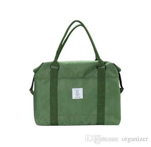 Korean Women Female Shoulder Bag Fashion Nylon Baggage Bag Folding Handbag Package Trave Bag