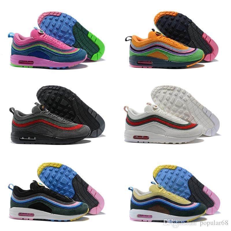 2b4c21bca4 New Top 97 Sean Wotherspoon VF SW Hybrid Triple Yellow White Blue Bullet Men  Women Running Shoes Fashion Sport Sneakers Basketball Shoes Men Shoes  Running ...