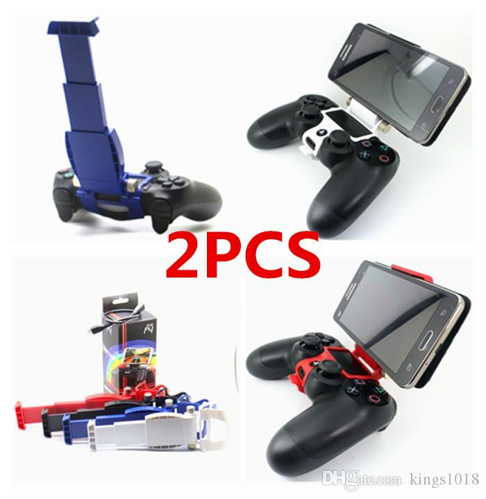 Cellphone Clamp Mobile Phone Smart Clip Holder Handle Bracket Support Stand for PS4 Playstation 4 PS4 Pro Slim Controller