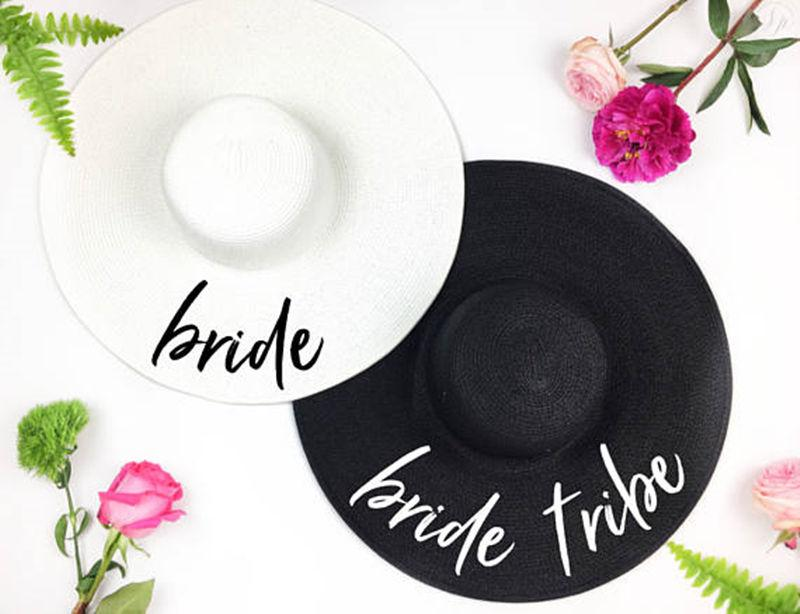 Bride Tribe Beach Wedding Floppy Mrs Sequin Sun Hats Just Married Drunk In  Love Honeymoon Bridal Party Gifts Favors Cheap Hats Kids Hats From  Wutiamou eba670a3d47