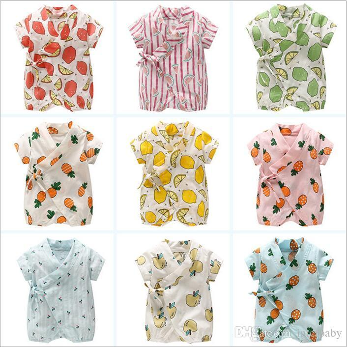 e694bbf97 2019 Baby Clothing Girls Ins Fruits Rompers Kids Fashion Short ...