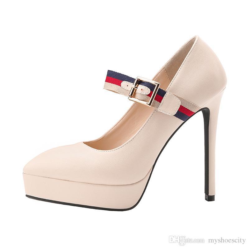 b8c5673df3 Decollete con tacco alto da 13 cm, scarpe con tacco alto, scarpe da donna,  rosso blu nero beige, taglia dal 34 al 39