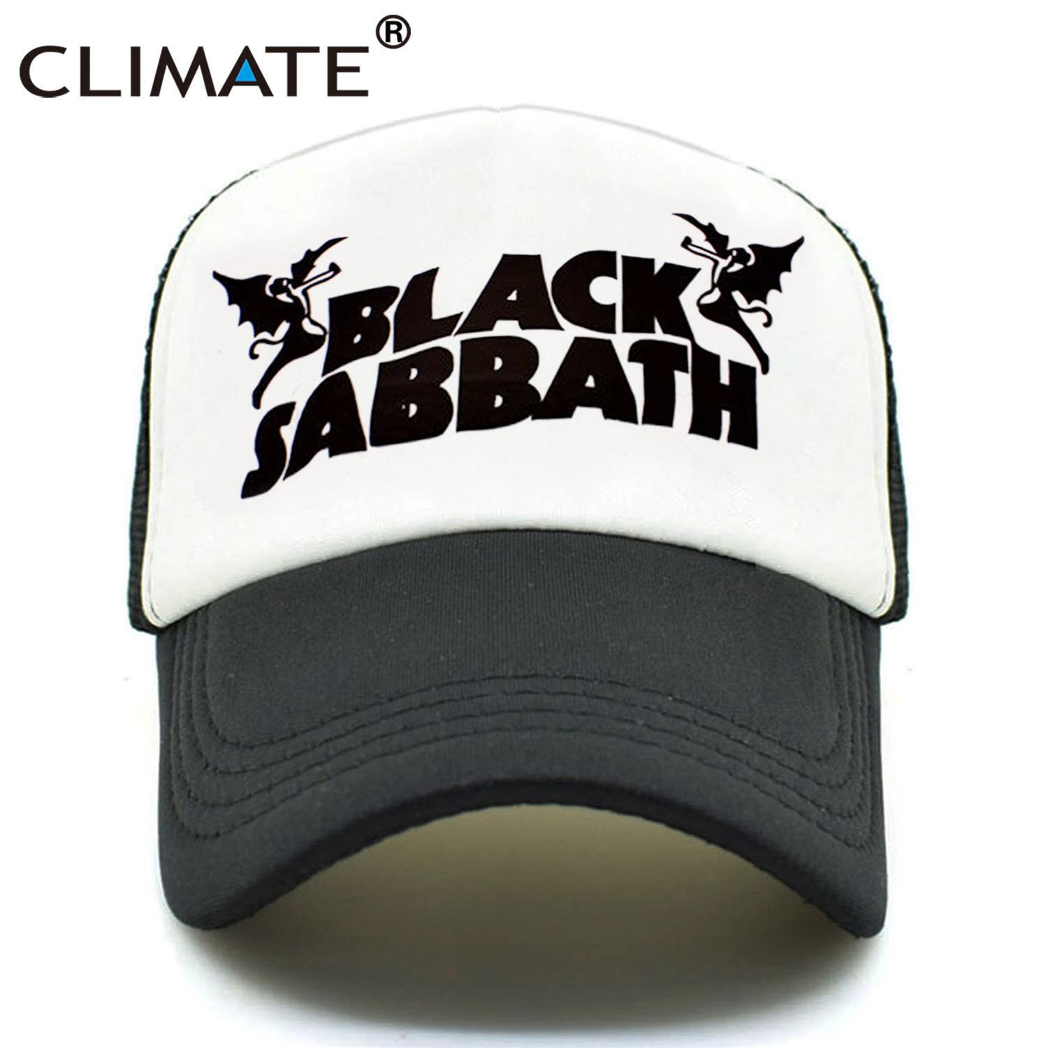 CLIMATE Men Women Trucker Caps Black Sabbath Rock Caps Cool Summer Heavy  Metal Rock Music Band Baseball Mesh Net Trucker Cap Hat Cap Hat From  Fengyune 5b1934323c2