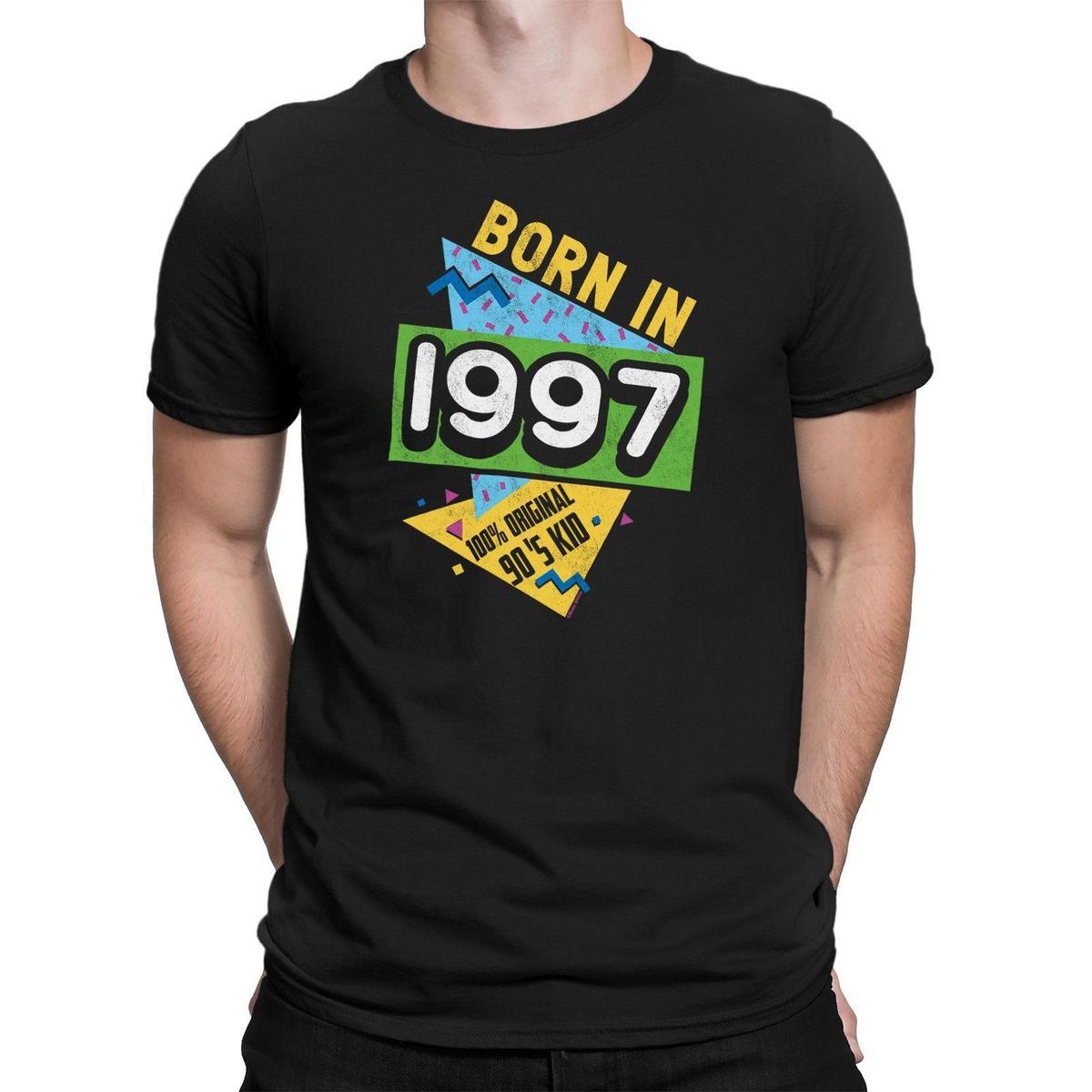 Born In 1997 Mens 21st Birthday Idea Novelty T Shirt 90s Nineties Retro Mans Funky Shirts Cool From Lefan04 1467