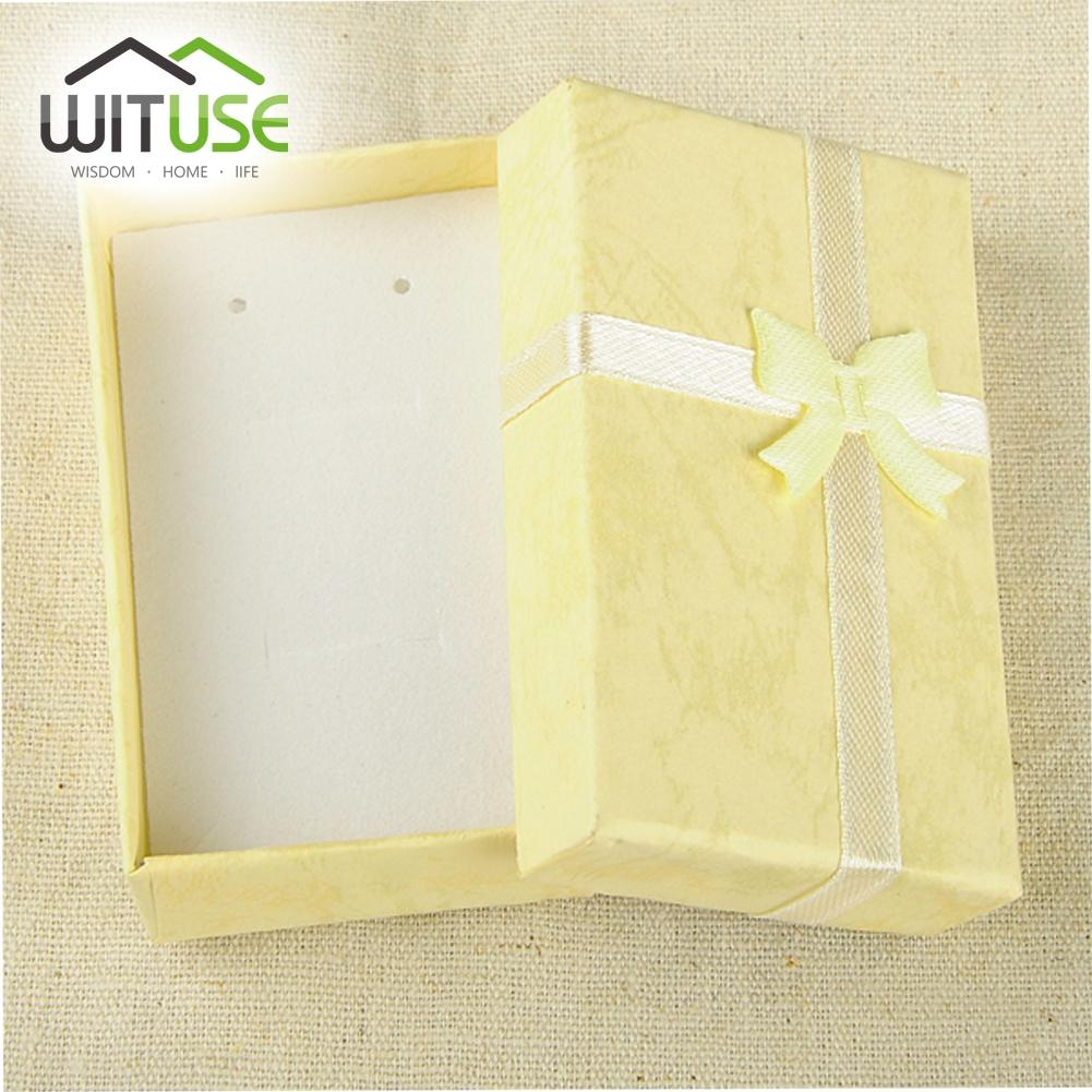2 Sizes---Mini Jewelry Ring Case Earring Watch Necklace Small Carton Present Gift Box 11.11 Promotion sale