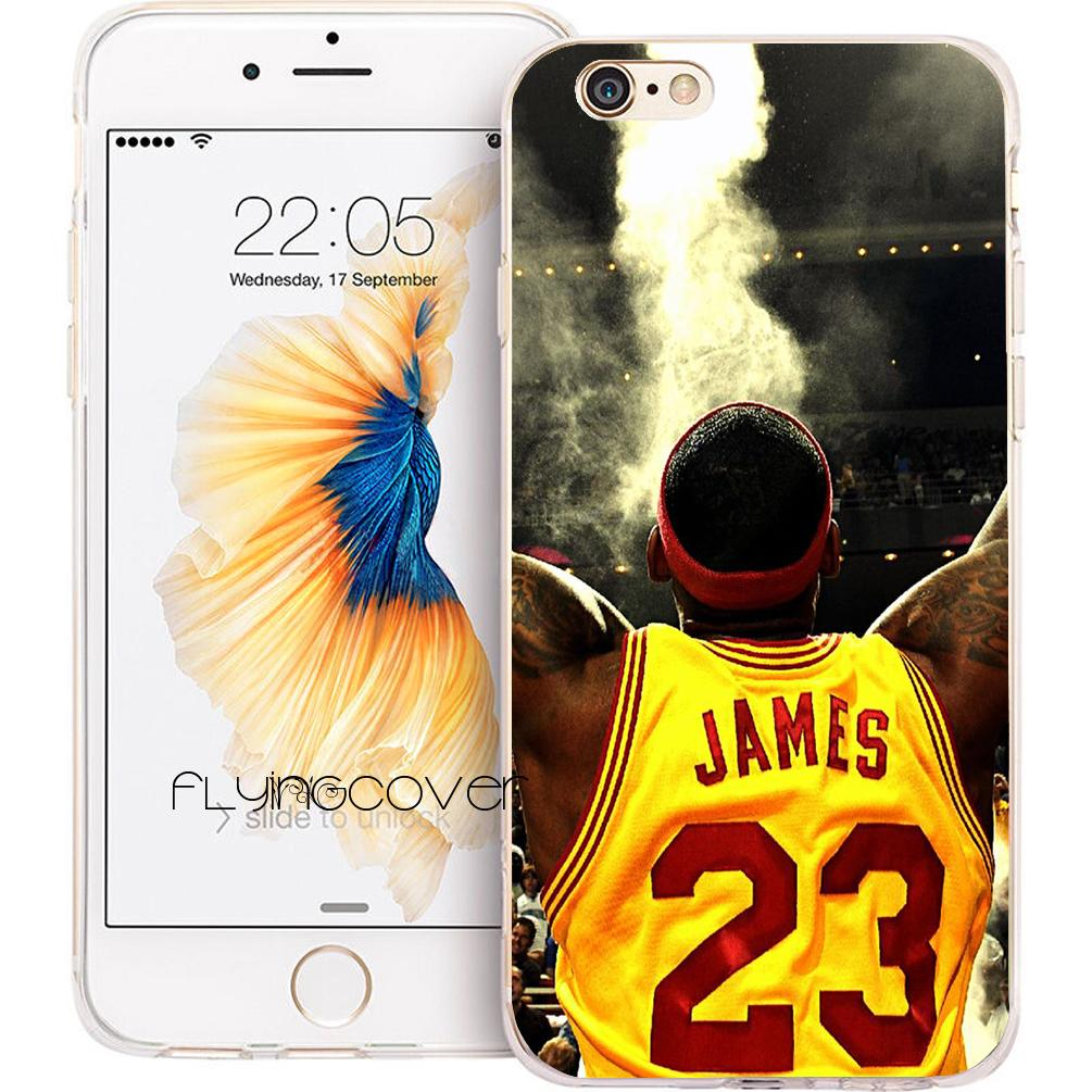 on sale 838e6 67d04 Fundas LeBron James Clear Soft TPU Silicone Phone Cover for iPhone X 7 8  Plus 5S 5 SE 6 6S Plus 5C 4S 4 iPod Touch 6 5 Cases.