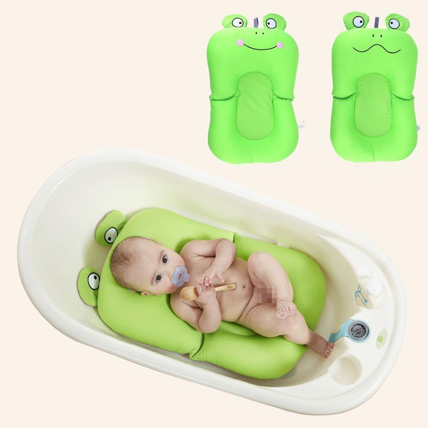 Baby Bath Tub Newborn Baby Foldable Bath Tub Pad & Chair & Shelf ...