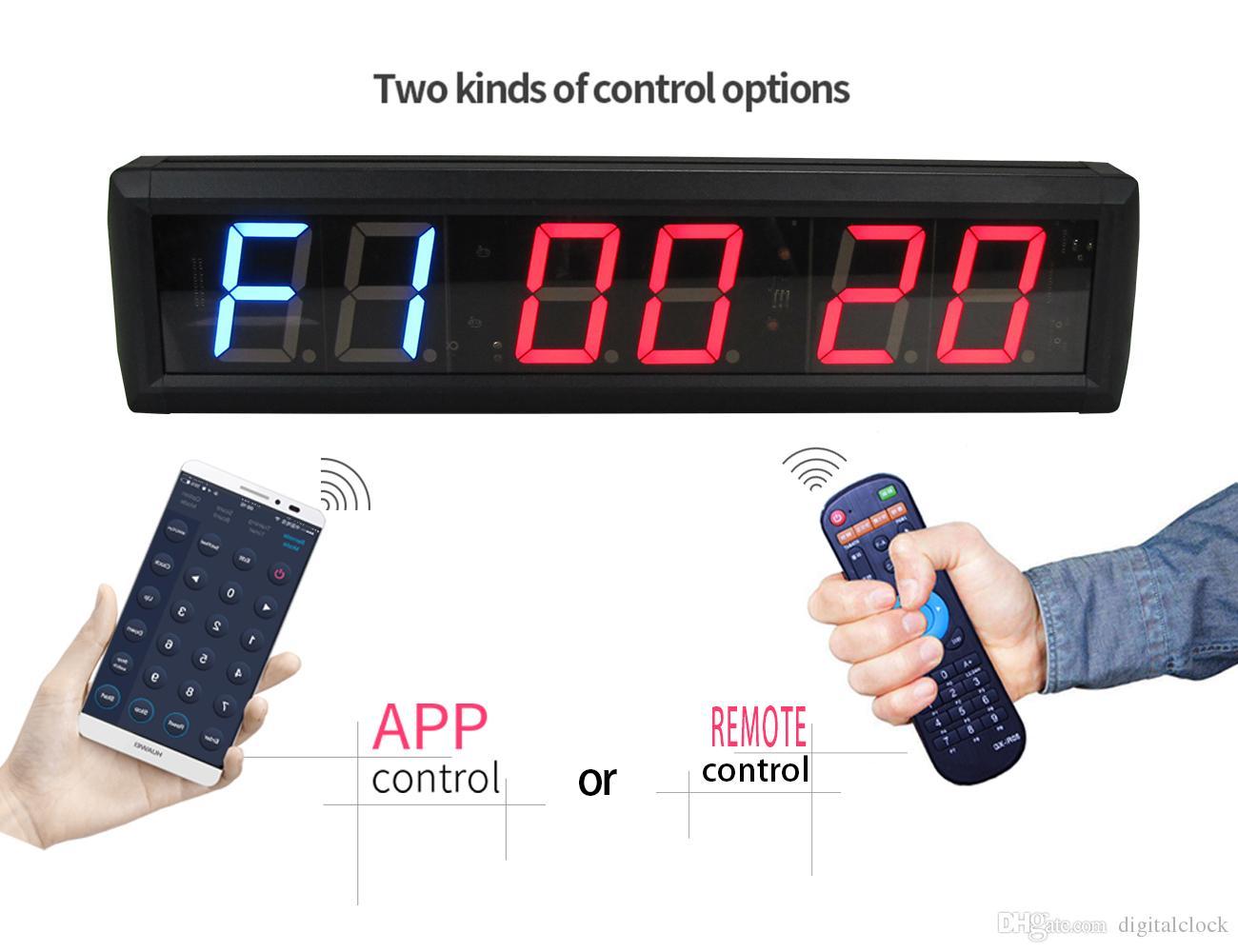 a02a303e81f Compre GANXIN 2.3 Polegada Ginásio Crossfit Interval Training Timer Garagem  Temporizador Relógio De Parede Contagem Regressiva Contagem Regressiva Com  ...