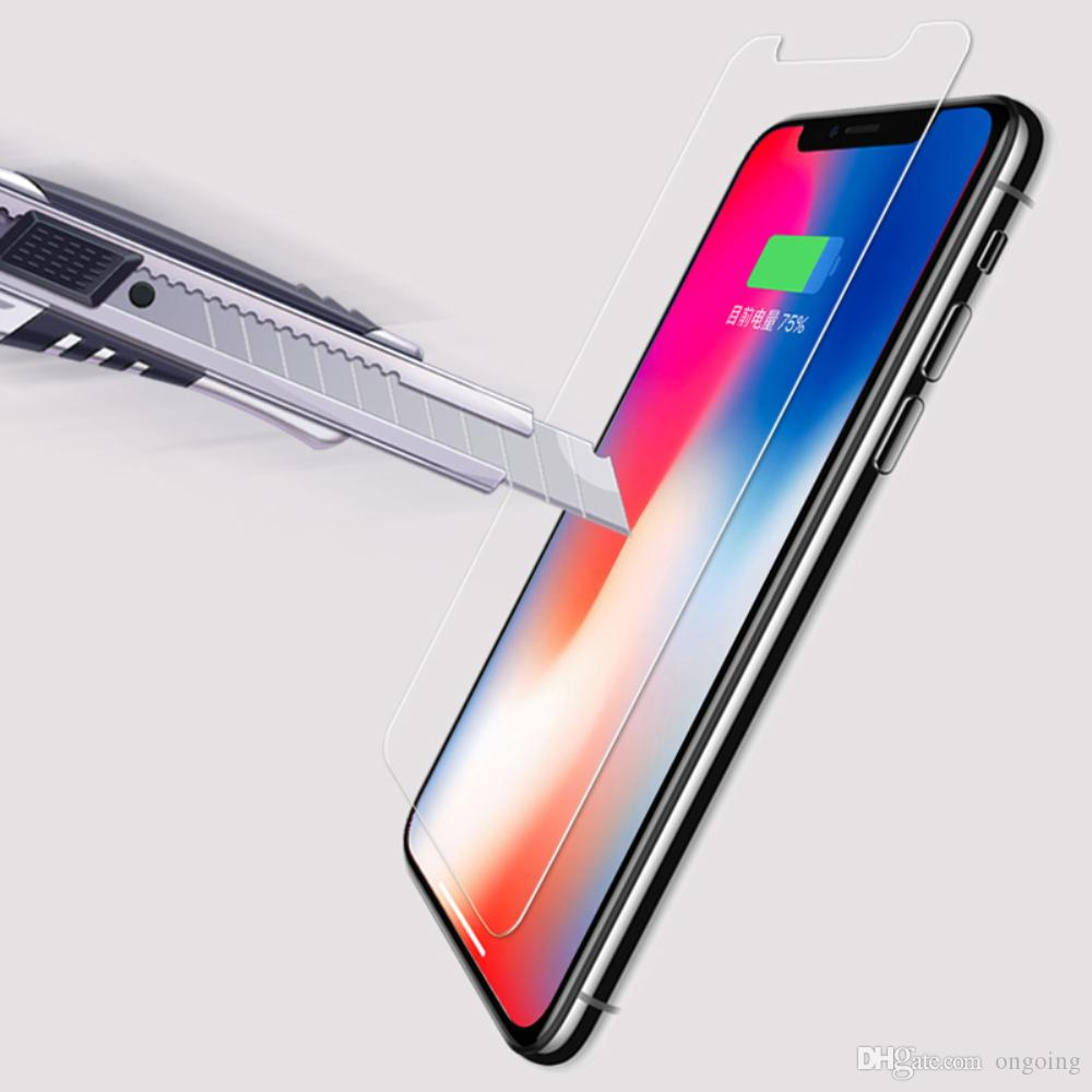 9h Premium Tempered Glass For Iphone X Ten 10 Hd Screen Protecter 4g 4s 5 5s 5c 6 6s Plus Film 7 8 Se 4 Protector Phone