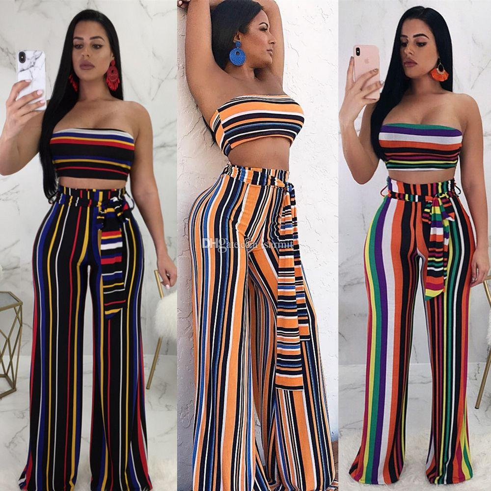 dfc1efd8957 2019 Women Pant Summer Set CHEAPEST Sexy Set Summer Two Piece Sweatsuits  F531 Sweat Pants Straped Print From Sarmit