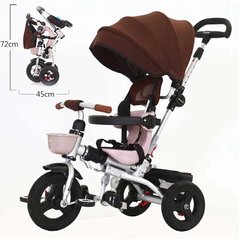 9e7e59dea Compre Triciclo Para Niños Bicicleta Para Bebés Plegable 1 3 5 Bicicleta  Para Niños Cochecito De Bebé Rueda Vacía De Titanio A $154.14 Del Xunqian |  DHgate.
