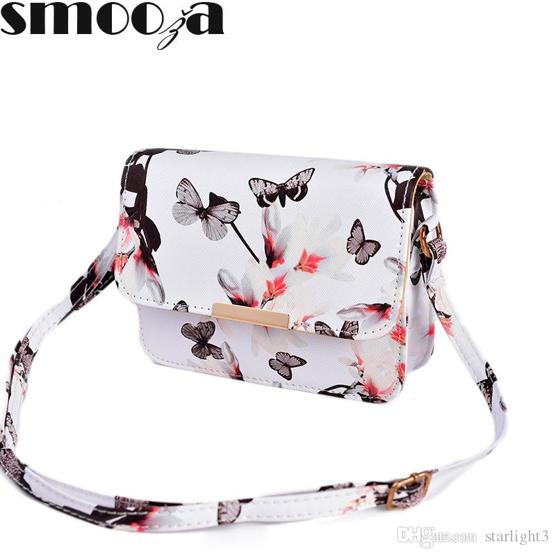 c8ddd0fa61 2018 New Women Floral Leather Shoulder Bag Handbag Retro Female Small  Messenger Bag Famous Designer Clutch Shoulder Bags Bolsa Wholesale Bags  Over The ...