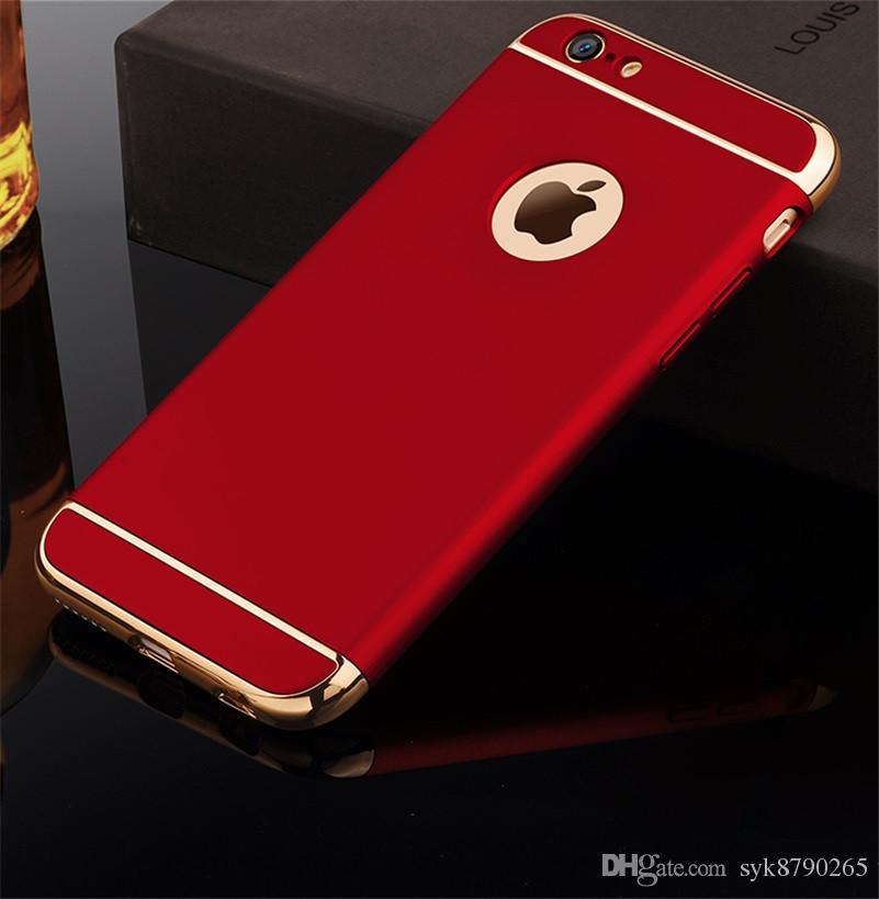 Luxo 3 em 1 Tampa traseira para o iPhone 12 11 Pro XR X XS Max 6 6S 7 8 Plus costura de volta caso