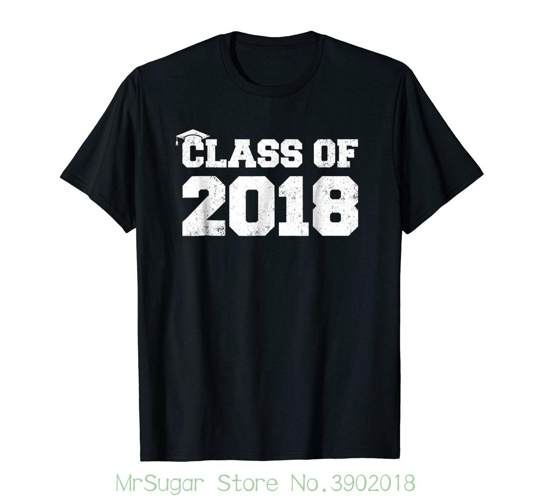 f1369595c Class Of 2018 Graduation T Shirt Senior High School College Print Casual T  Shirt Men Brand Political T Shirts Cotton T Shirt From Mrsugarstore, ...