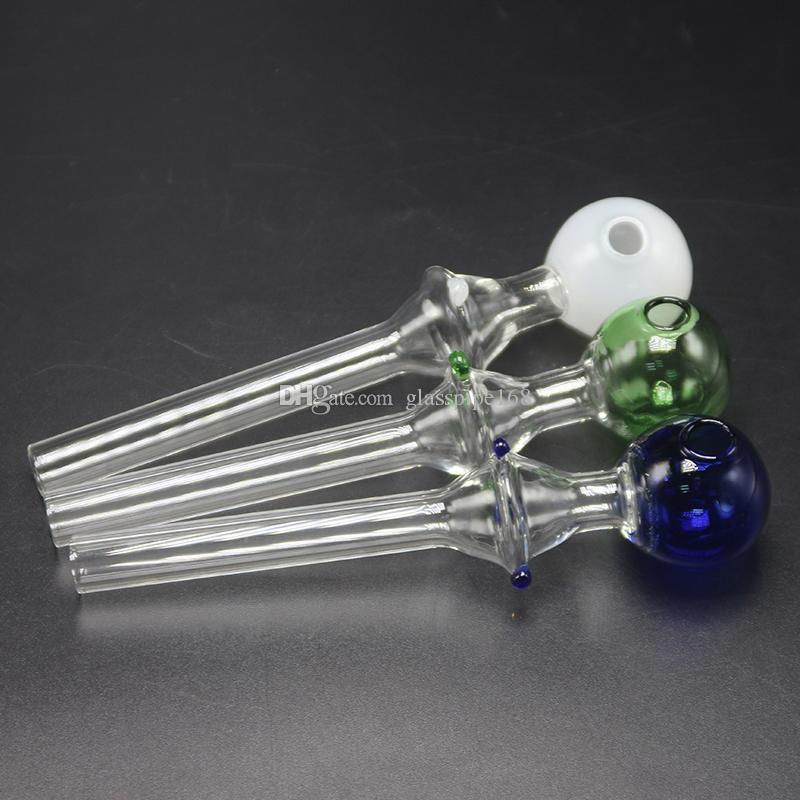 Cuencos de colores cortos de venta caliente Tubos de mano de vidrio Acerca de 23.9g Tazones de fuente de colores Quemadores de aceite de vidrio Tubos de fumar Pyrex Tubo de quemador de aceite