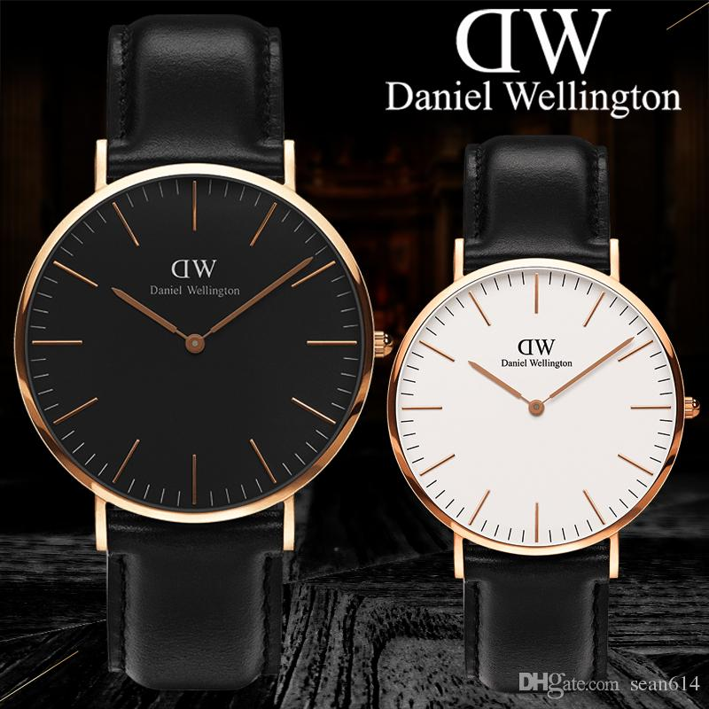 2019 Women Men Watch Quartz Fashion Brand Lovers' Watches Leather Rose Gold Wrist Watch Male Clock female Ladies watches Women Wristwatches
