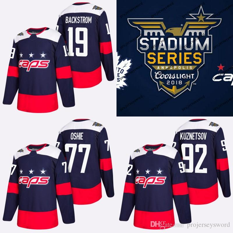 the best attitude 82e24 ffb43 #77 T.J. Oshie Jersey 2018 Stadium Series Washington Capitals Alex Ovechkin  Nicklas Backstrom Braden Holtby Evgeny Kuznetsov Hockey Jerseys