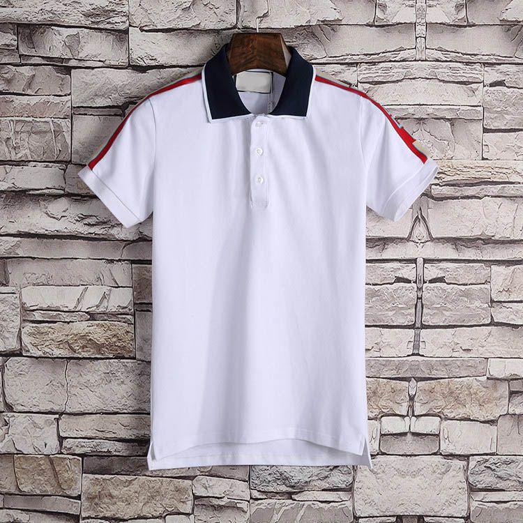 Nuovo Polo Designer Uomo Polo di lusso Casual Uomo Polo T Shirt Snake Bee Lettera Stampa Ricamo Moda High Street Mens Polo