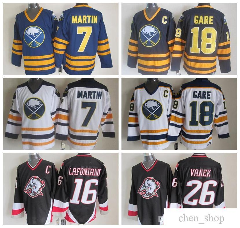 2019 Cheap 7 Rick Martin Jersey Men Buffalo Sabres Vintage CCM Hockey  Jerseys Stitched 16 Pat LaFontaine 18 Danny Gare 26 Thoma Vanek From  Chen shop 3615e90b0