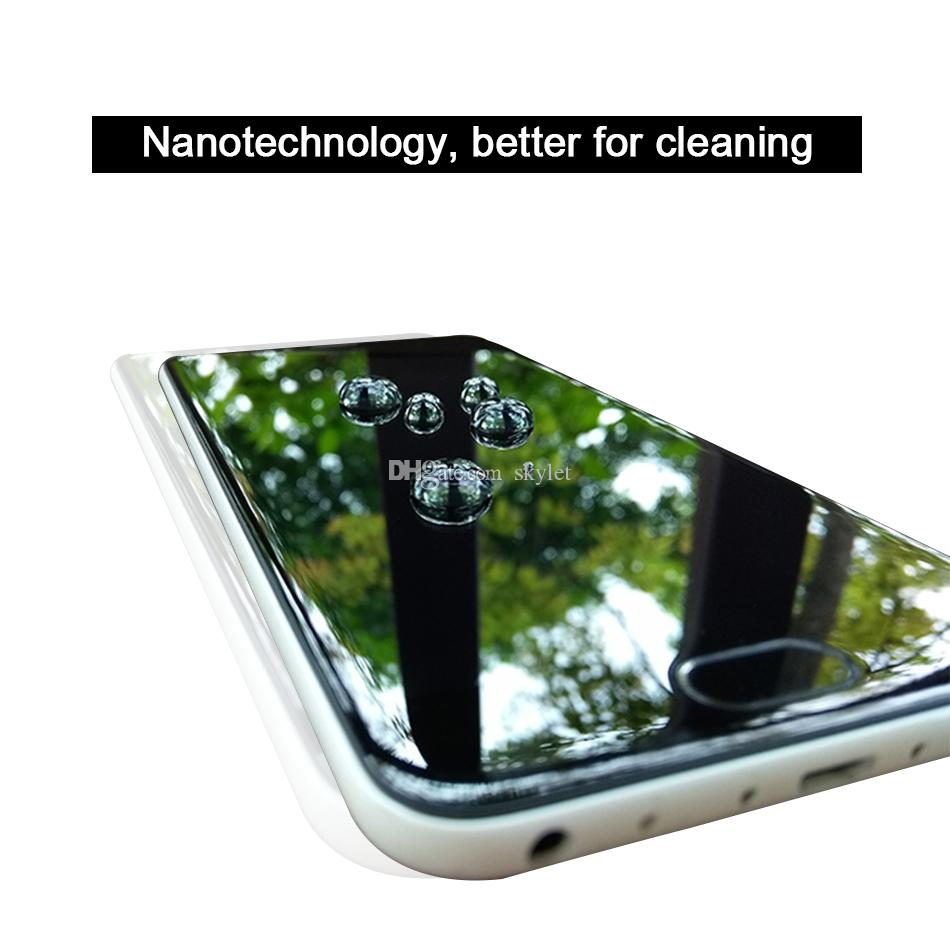 1ML Liquid Nano Technology Screen Protector 3D Curved Edge Anti Scratch Tempered Glass Film For iPhone X 7 8 Plus Samsung S8 Plus