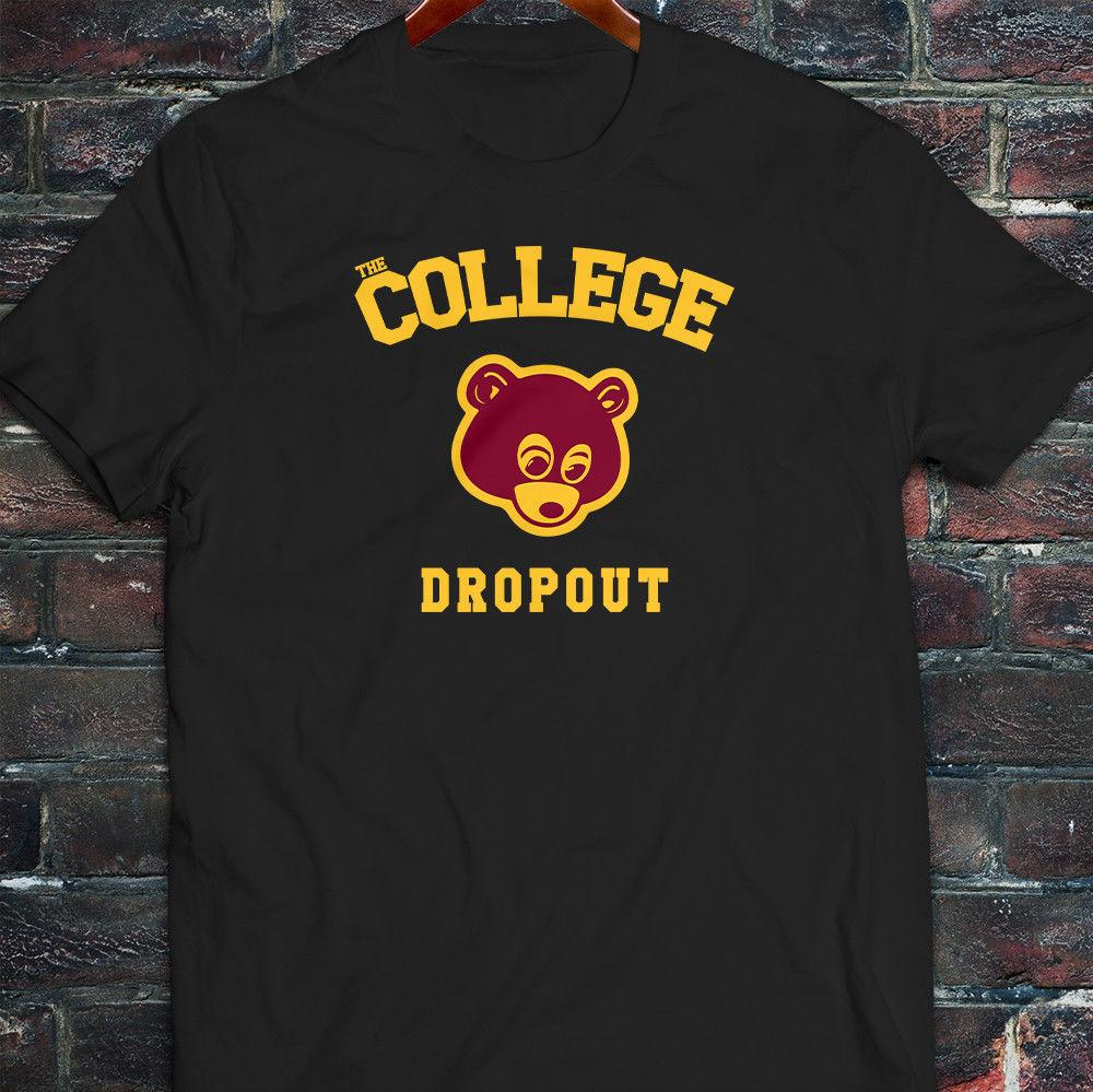 2608b7cb0 Kanye West Dope Yolo College Dropout Bear Mens Black T Shirt Funny Unisex T  Shirt On Shirt Online Tee Shirts Shopping From Teetreedesigns, $12.96|  DHgate.