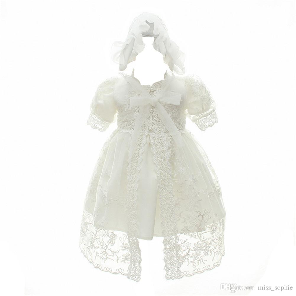 5ef4511de 2019 Factory Outlet Baby Girl Christening Baptism Gowns Toddler Princess  Wedding Special Occasion Dress Outfits For 0 24months Babies +Hat From  Miss_sophie, ...