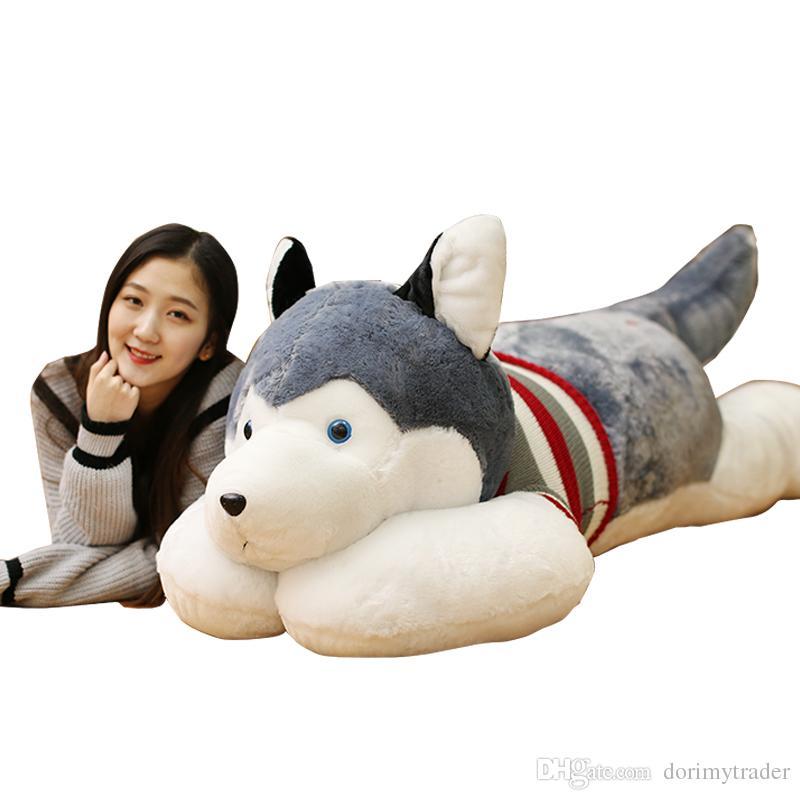 2019 Dorimytrader Cute Fat Husky Plush Toy Giant Stuffed Animals Dog
