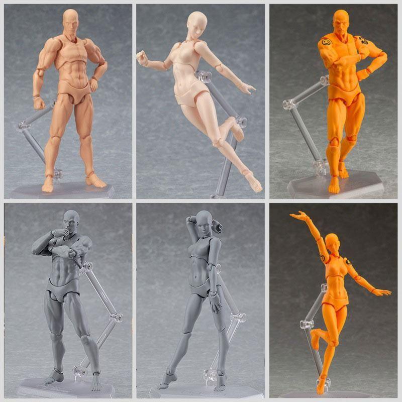 2018 He/She Male/Female Pvc Body Kun Body Chan Action Figure Body ...