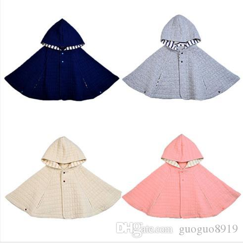 Baby Girls Boys Cotton Cloak Autumn Winter Children Hoodies Cute Fashion Long Sleeves Toddler Clothes 4 Kinds of Color