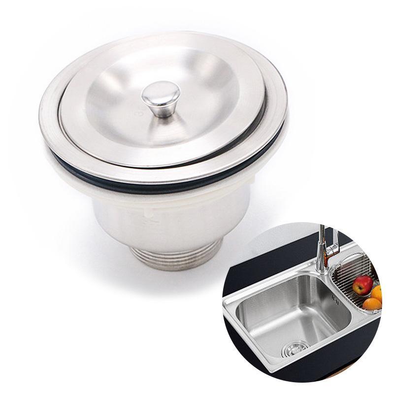 Stainless Steel Sink Strainer Stopper Waste Plug