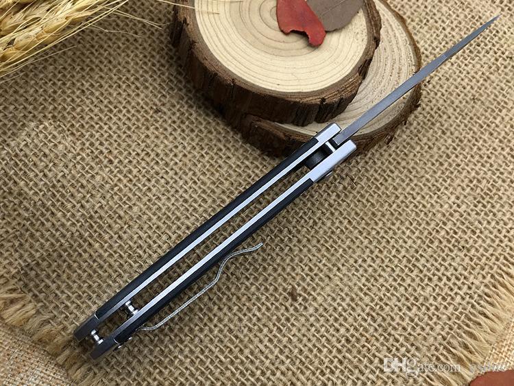 ¡Súper! El mejor Cuchillo plegable G502 Mango de fibra de carbono de acero Damasco Bolsillo EDC para acampar En lugar de Cuchillo Sog FIELDER G707 Cuchillos