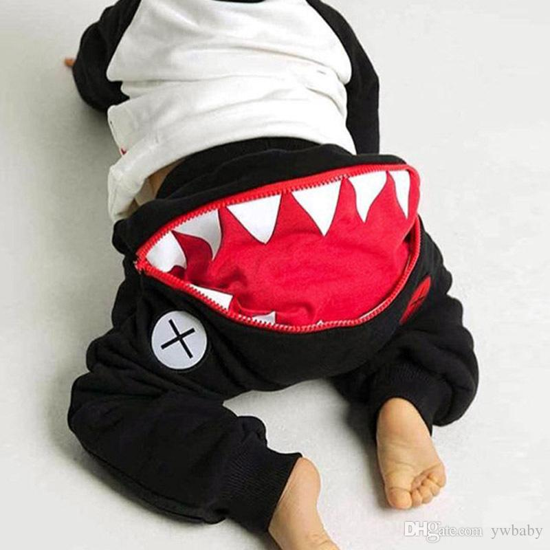 1cc929277468 Boy Girl Shark Pants Kids Clothing Autumn Baby Cotton Cartoon Harem Pants  Children Casual Trouser Baby Boy Clothes Baby Girl Clothes Girl Cotton Pants  Kids ...