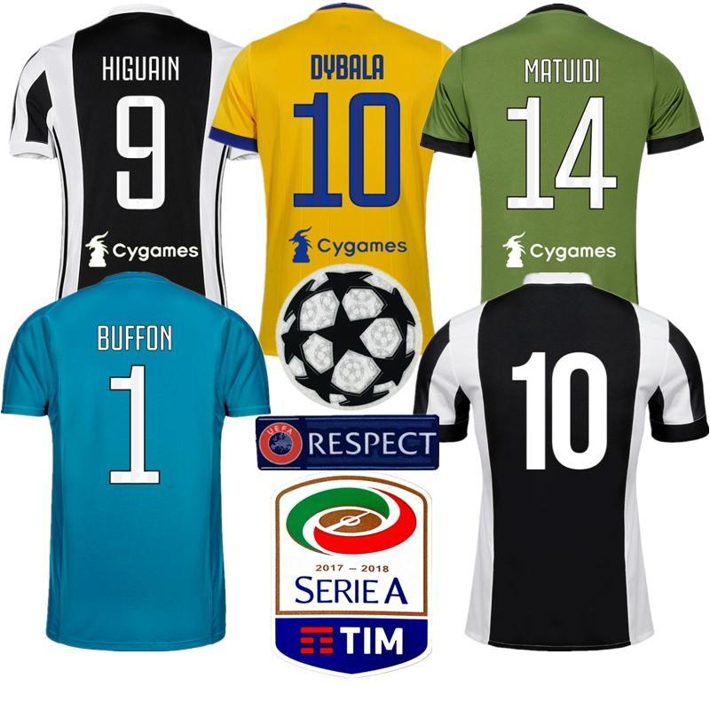 meet b5c2e 25b92 2017/18 Juventus Dybala Ronaldo Pjanic Champions League Soccer Jerseys  Futbol Camisa Football Camisetas Juve Shirt Kit Maillot