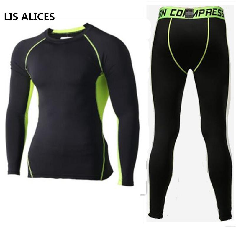 80d0620c9 LIS ALICES Winter Thermal Underwear Sets Men Quick Dry Anti ...