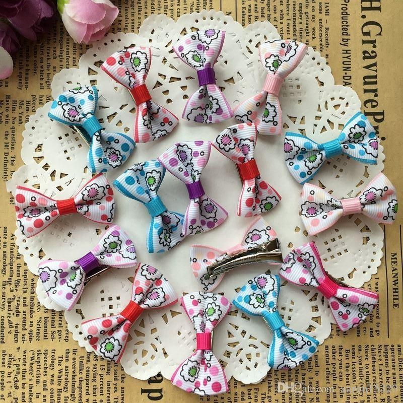 Pet Hair Bows Dog Accessories Small Bowknot with Tiny Alligator Clips Pet Grooming Products Puppy Dog Hair Clips
