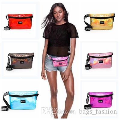 c10db1a8ce Pink Letter Laser Hologram Fanny Packs Waist Belt Bag Love Pink Waterproof  Sports Beach Bags Women Zipper Purses Outdoor Cosmetic Bag Tactical Waist  Women ...
