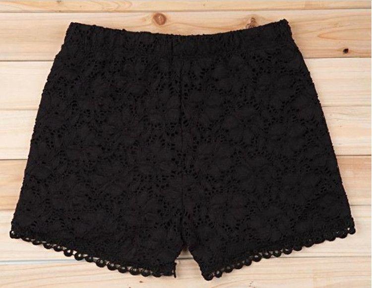 Women Lace Shorts Leggings Summer Bottoming Shorts White Black Skin Shorts Tights