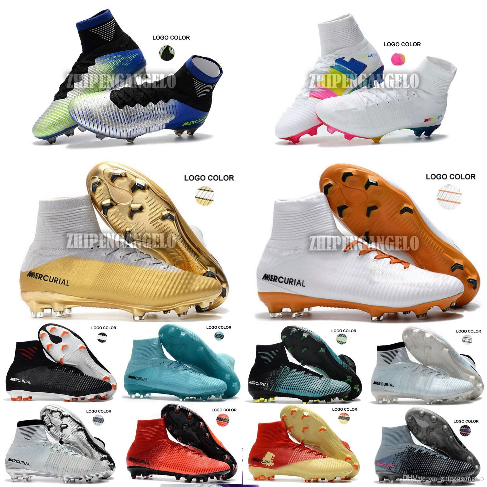 2018 Men Mercurial Superfly CR7 V FG AG Football Boots Cristiano Ronaldo  Neymar JR ACC Soccer Shoes Magista Obra Soccer Cleats Soccer Shoes Football  Cleats ...
