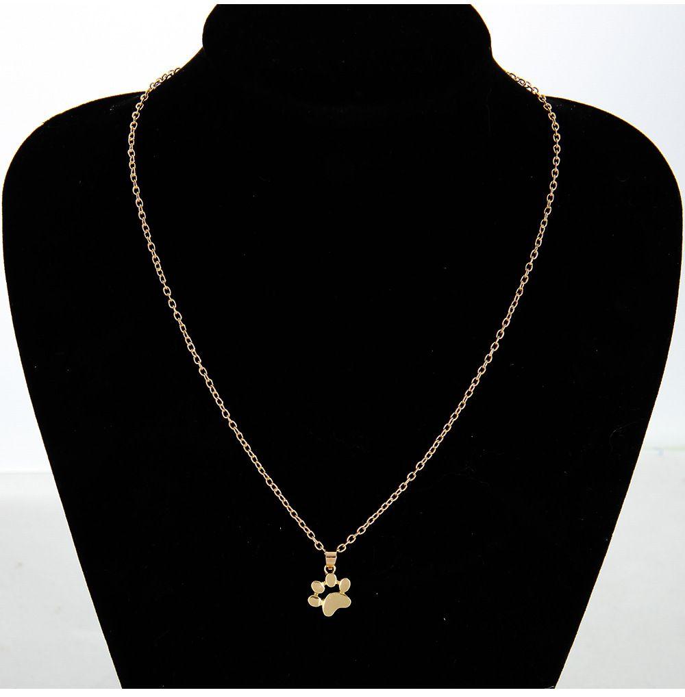 Novos ornamentos adorável cão de estimação garra clavícula colares lazer moda liga material, ouro e prata cor dupla fabricante venda direta