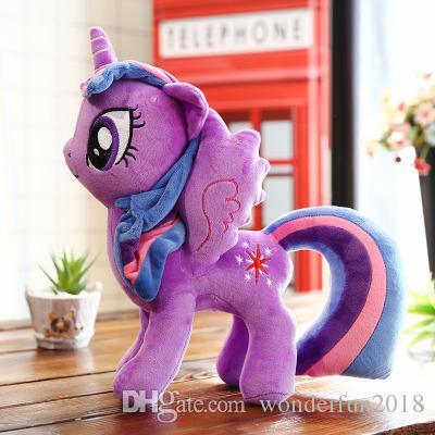 30 cm Big Princess Plush Unicorns My Little Horse Poni Stuffed & Plush Animals Baby Infant Girls Toys Birthday Gift Rainbow Dash