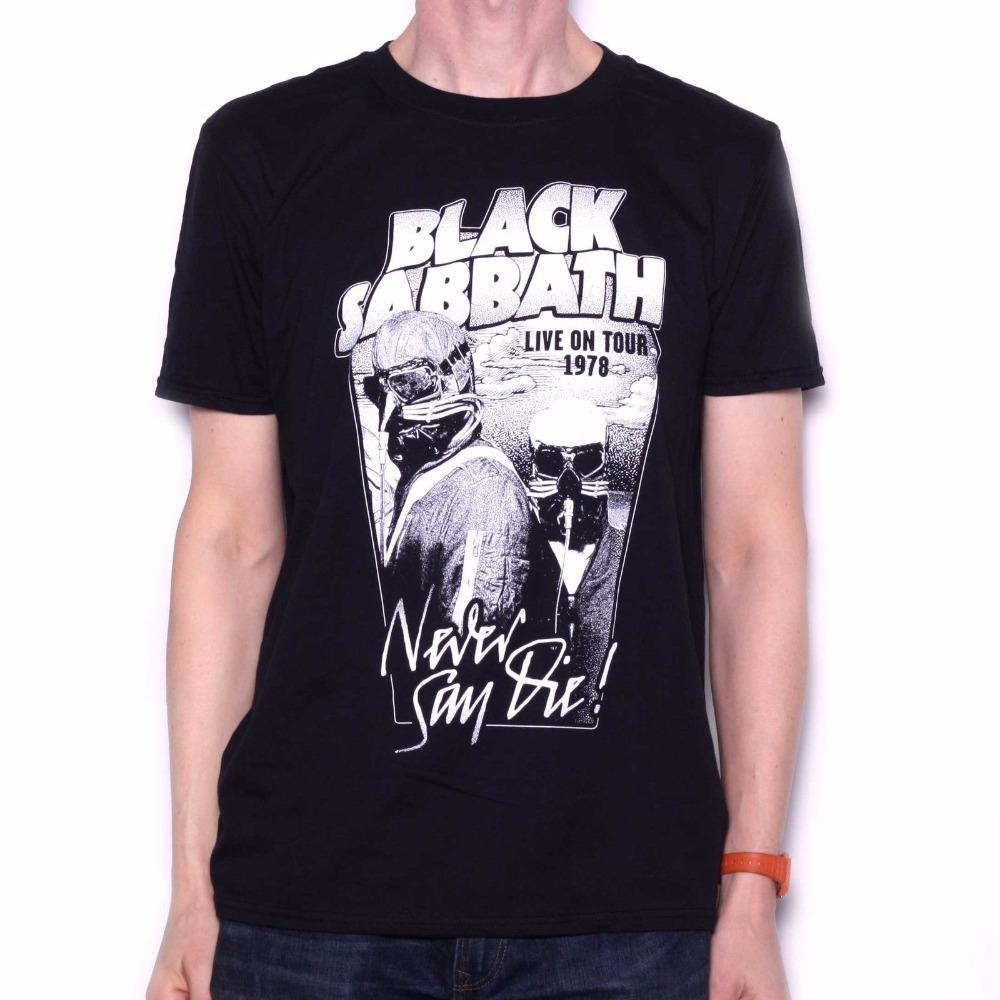 7ade3cce48d7d Custom Tees Men S Black Sabbath T Shirt Never Say Die Black   White  78 Usa  Tour Design Official Top O Neck Short Sleeve T Shi Rude T Shirts Shirt  Online ...