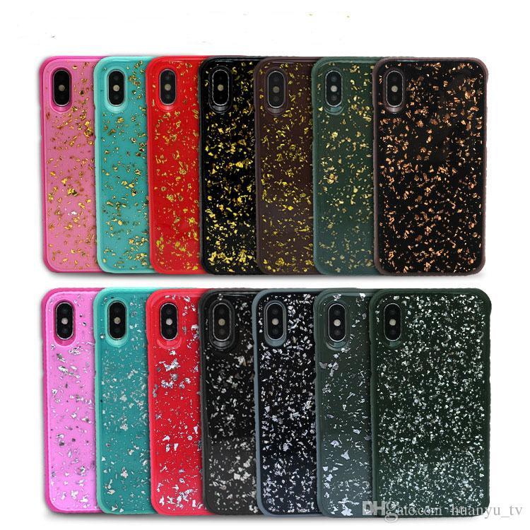 Для Iphone X / Iphone 6/6 plus/7 / 8plus TPU PC золотой фольги новый стиль чехол для телефона Samsung Galaxy Примечание 8
