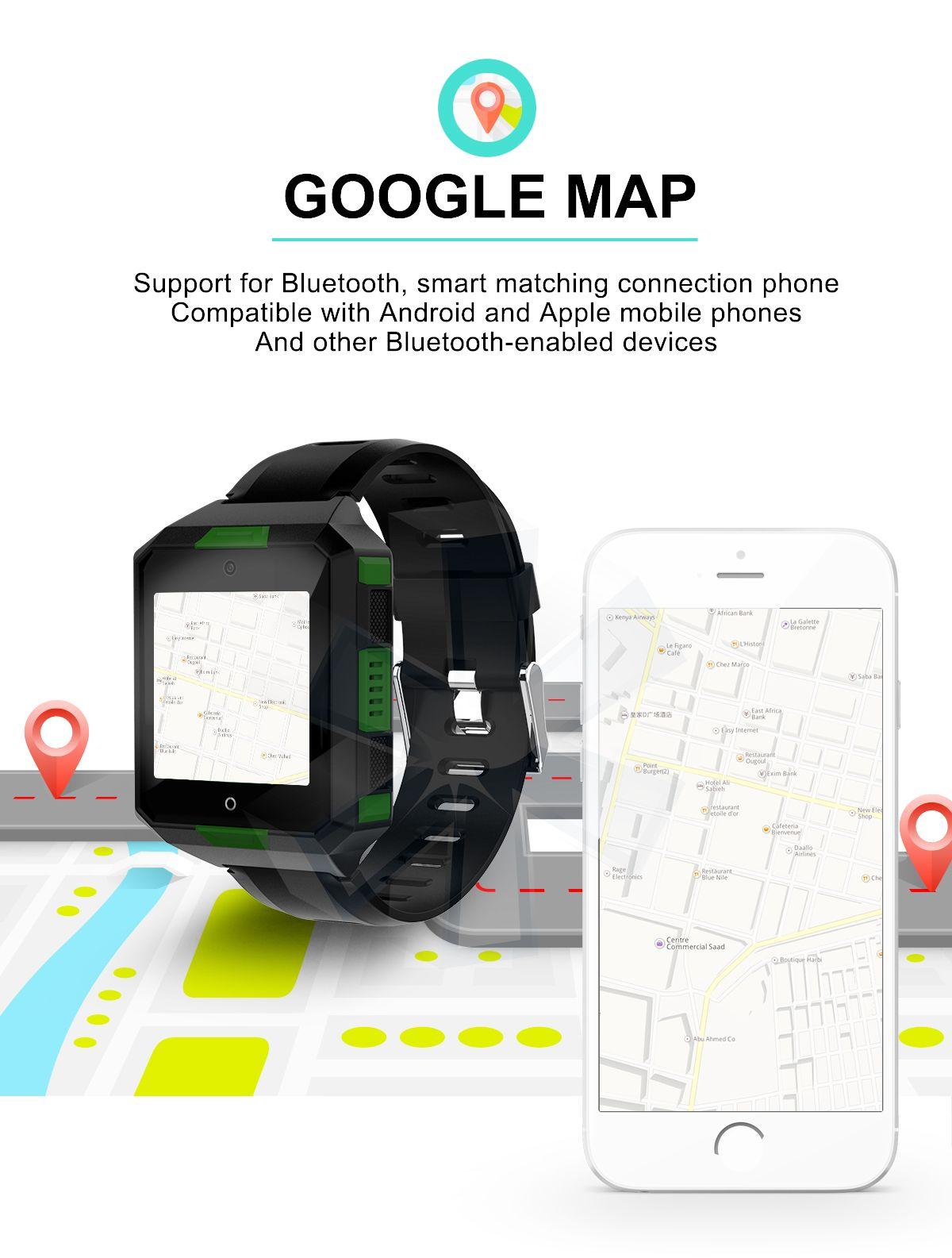 Smartwatch 4G LTE Smartwatch MTK6737 da 1 GB, 8 GB, Nano-SIM, Android 6.0, 2.0MP, fotocamera, WiFi, frequenza cardiaca, pressione Boold, IP67, impermeabile, Smartwatch